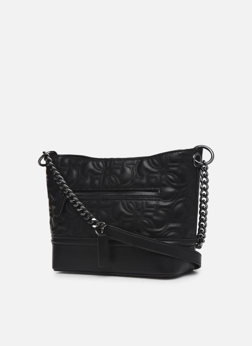 Bolsos de mano Guess NEW WAVE SMALL HOBO Negro vista lateral derecha