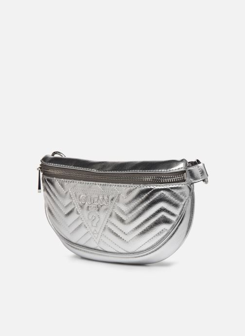 Kleine lederwaren Guess ZANA MINI BELTBAG Zilver model