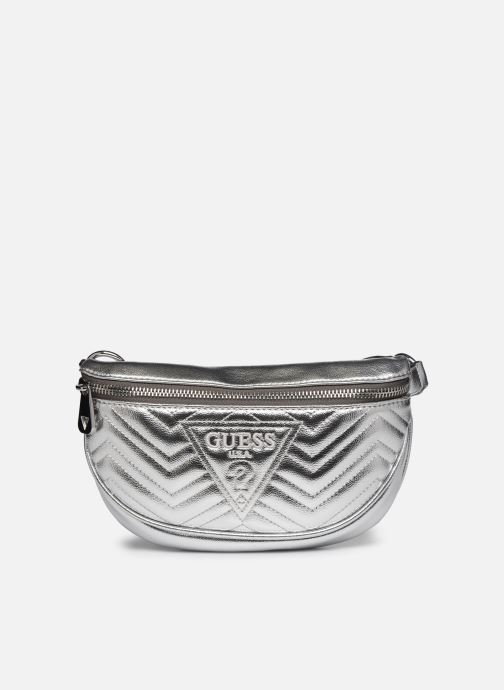 Kleine lederwaren Guess ZANA MINI BELTBAG Zilver detail