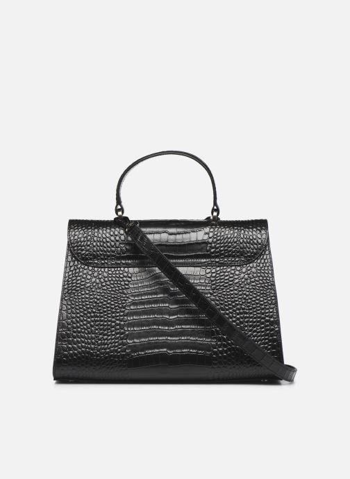 Handtaschen Guess BELL LEATHER TOP HANDLE FLAP schwarz ansicht von vorne