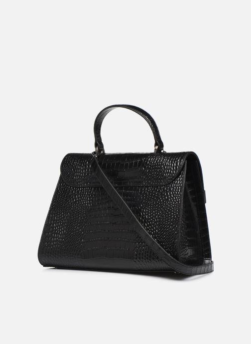 Handtaschen Guess BELL LEATHER TOP HANDLE FLAP schwarz ansicht von rechts