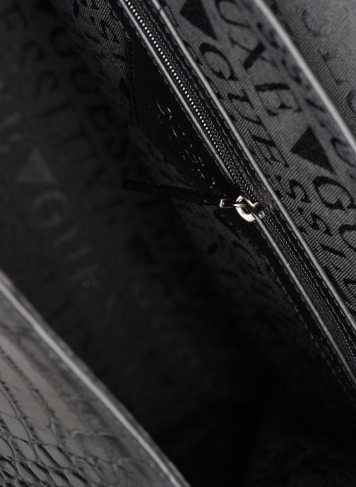 Handtaschen Guess BELL LEATHER TOP HANDLE FLAP schwarz ansicht von hinten