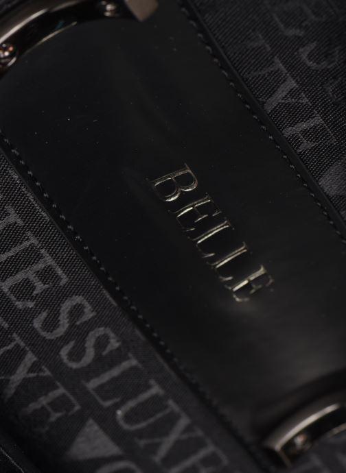 Handtaschen Guess BELL LEATHER TOP HANDLE FLAP schwarz ansicht von links