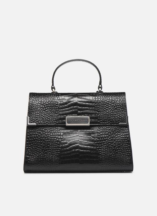 Handtaschen Guess BELL LEATHER TOP HANDLE FLAP schwarz detaillierte ansicht/modell
