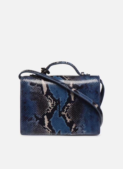 Handtassen Guess BELL LEATHER CROSSBODY FLAP Blauw voorkant