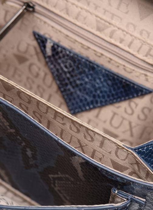 Handtassen Guess BELL LEATHER CROSSBODY FLAP Blauw achterkant