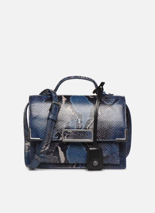 Bolsos de mano Guess BELL LEATHER CROSSBODY FLAP Azul vista de detalle / par