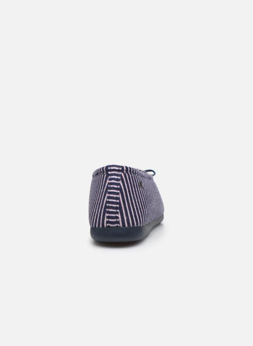 Chaussons Isotoner Ballerine ergonomique Everywear Bleu vue droite