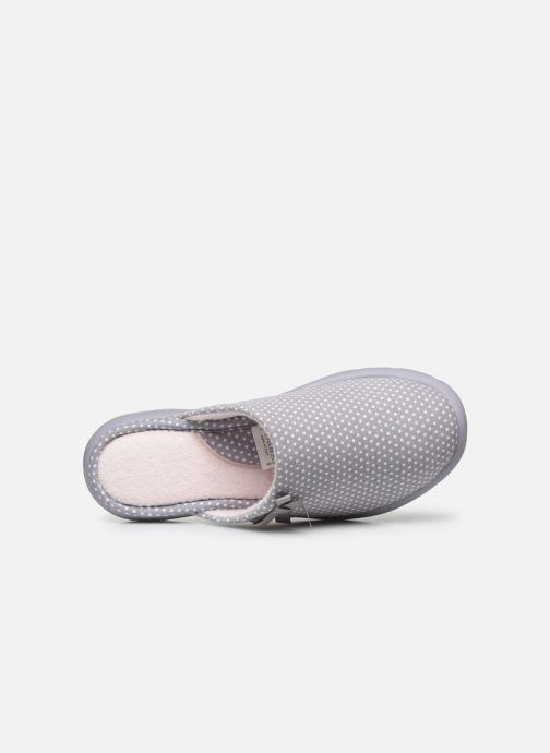 Pantuflas Isotoner Mule ergonomique Everywear Gris vista lateral izquierda