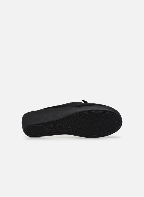 Chaussons Isotoner Mule micro velours Noir vue haut