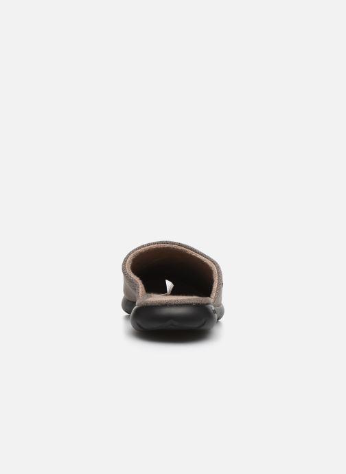 Chaussons Isotoner Mule ergonomique velours Everywear® Marron vue droite