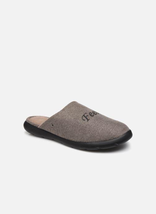 Chaussons Isotoner Mule ergonomique velours Everywear® Marron vue détail/paire