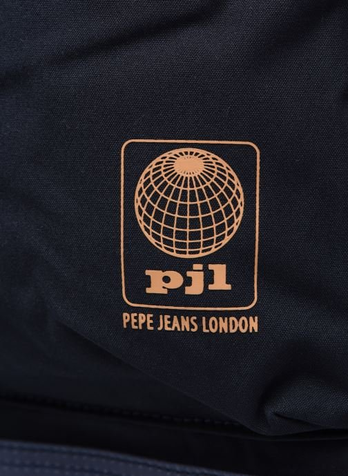 Sacs à dos Pepe jeans Regans Backpack Bleu vue gauche