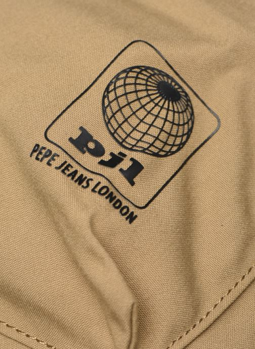Rucksacks Pepe jeans Regans Backpack Beige view from the left