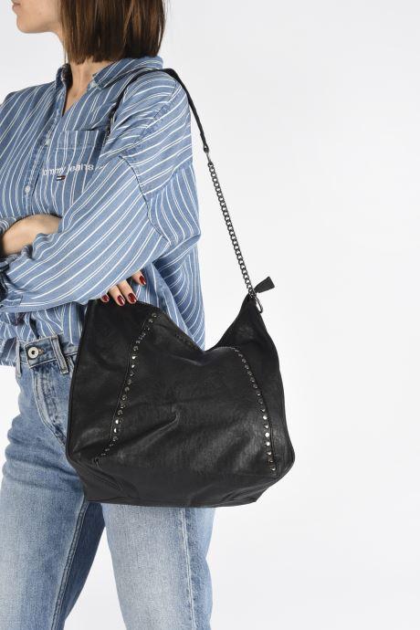 Handbags Pepe jeans Ada Bag Black view from underneath / model view