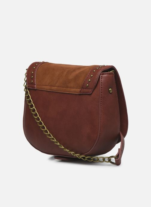 Handbags Pepe jeans Liona Bag Brown view from the right