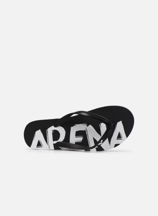 Zehensandalen Arena Arena Flip Flop W schwarz ansicht von links
