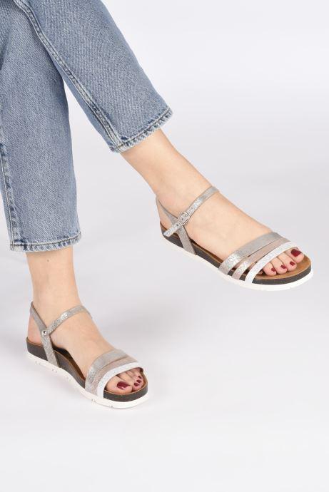 Sandales et nu-pieds Plakton Green Argent vue bas / vue portée sac