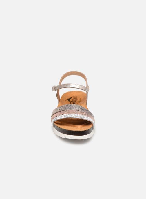 Sandales et nu-pieds Plakton Green Argent vue portées chaussures