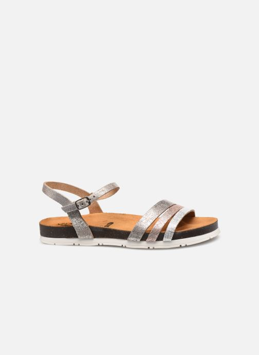 Sandales et nu-pieds Plakton Green Argent vue derrière
