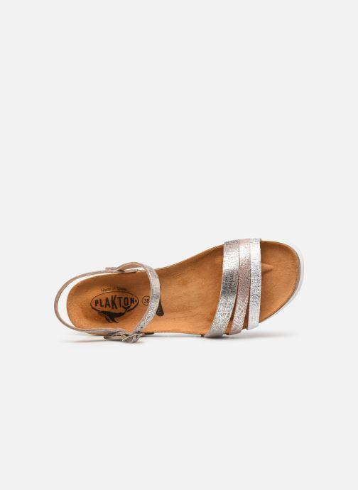 Sandales et nu-pieds Plakton Green Argent vue gauche