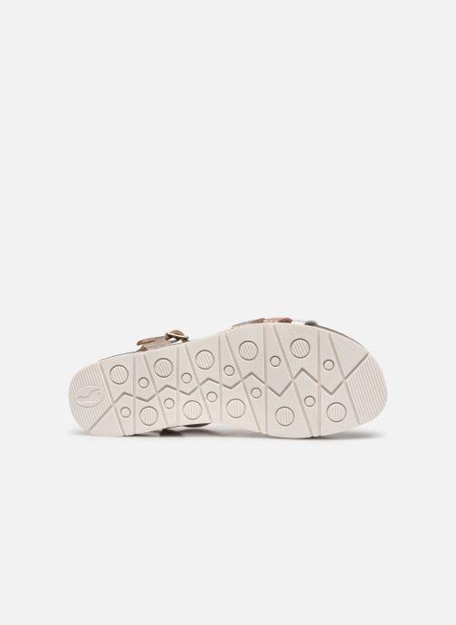 Sandales et nu-pieds Plakton Green Argent vue haut