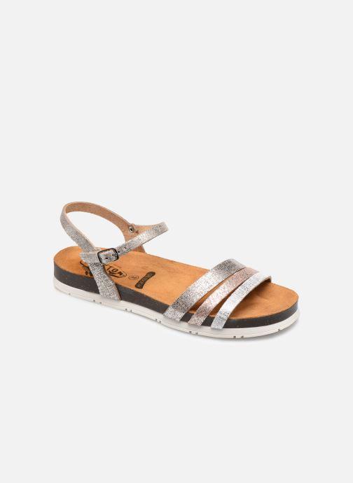 Sandales et nu-pieds Plakton Green Argent vue détail/paire