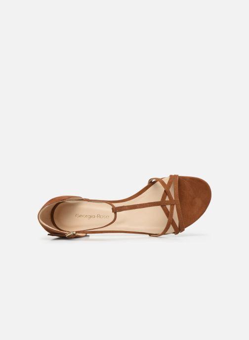 Sandales et nu-pieds Georgia Rose Episa Marron vue gauche