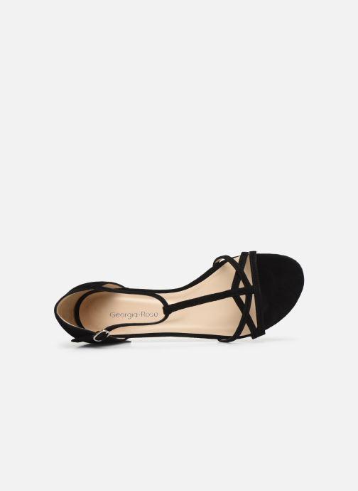 Sandales et nu-pieds Georgia Rose Episa Noir vue gauche