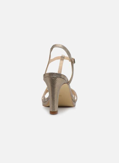Sandales et nu-pieds Georgia Rose Ebrilla Or et bronze vue droite