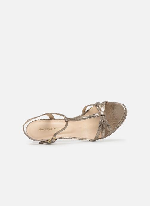Sandales et nu-pieds Georgia Rose Ebrilla Or et bronze vue gauche