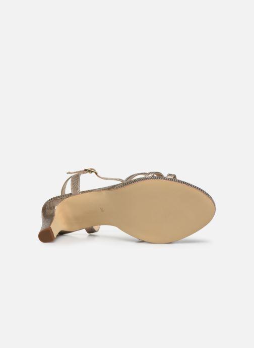 Sandales et nu-pieds Georgia Rose Ebrilla Or et bronze vue haut