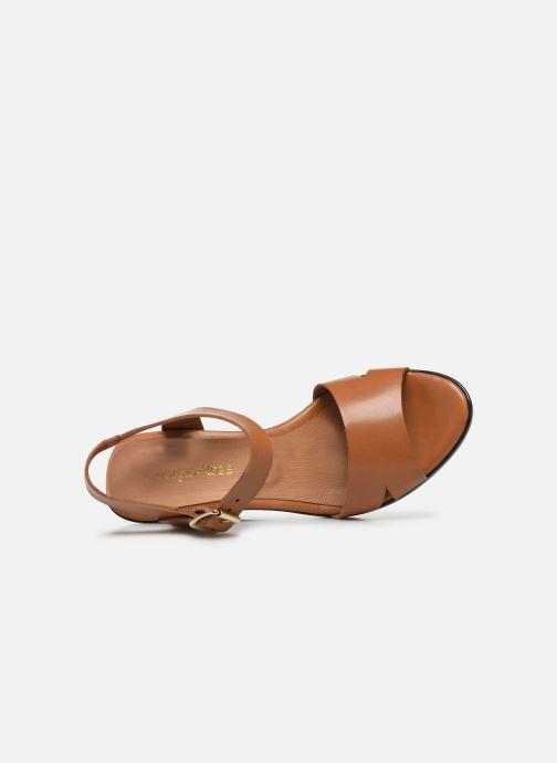 Sandales et nu-pieds Georgia Rose Efani Marron vue gauche