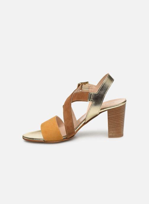 Sandales et nu-pieds Georgia Rose Jibou Marron vue face