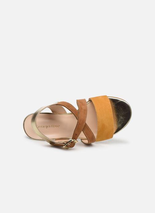 Sandales et nu-pieds Georgia Rose Jibou Marron vue gauche