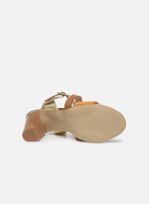 Sandales et nu-pieds Georgia Rose Jibou Marron vue haut