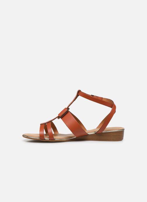 Sandales et nu-pieds Georgia Rose Liloute Marron vue face
