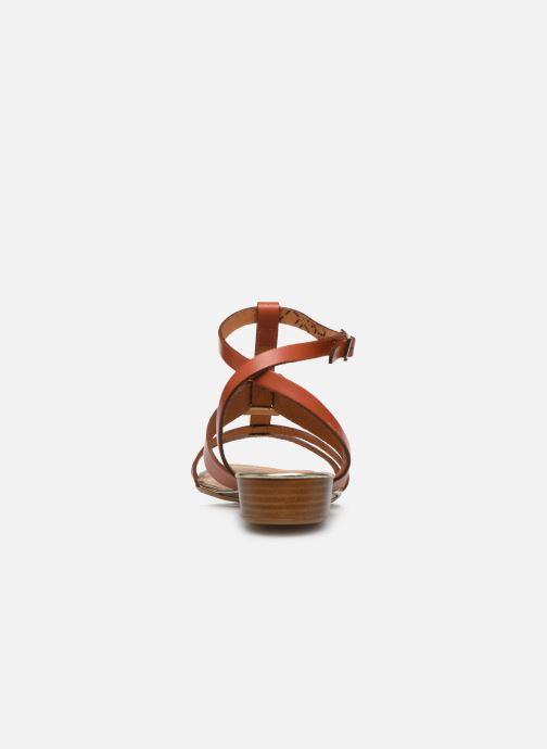 Sandales et nu-pieds Georgia Rose Liloute Marron vue droite