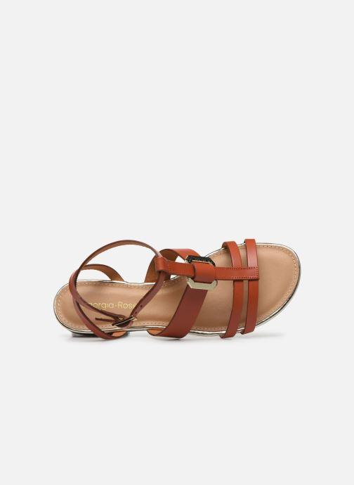 Sandales et nu-pieds Georgia Rose Liloute Marron vue gauche