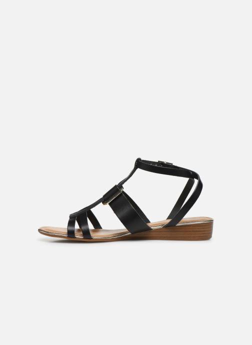 Sandales et nu-pieds Georgia Rose Liloute Noir vue face