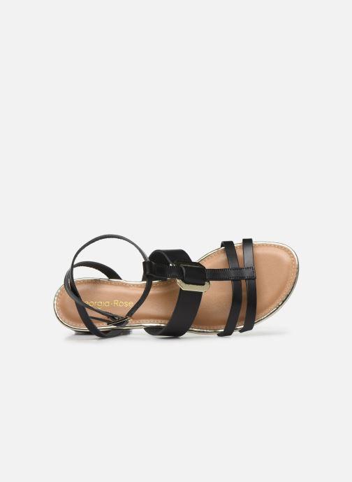 Sandales et nu-pieds Georgia Rose Liloute Noir vue gauche
