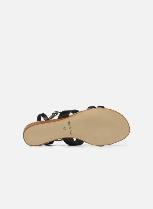 Sandales et nu-pieds Georgia Rose Liloute Noir vue haut