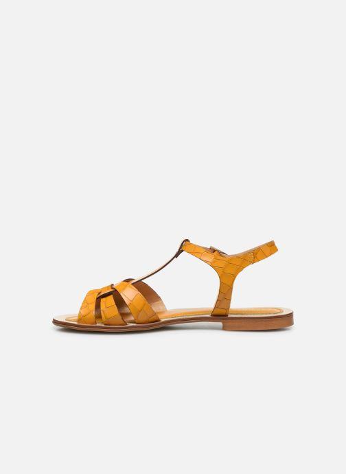 Sandalen Georgia Rose Licroco gelb ansicht von vorne