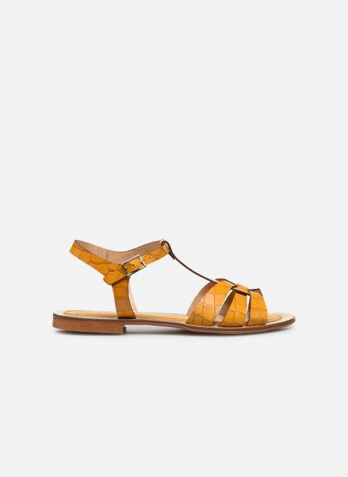 Sandalen Georgia Rose Licroco gelb ansicht von hinten