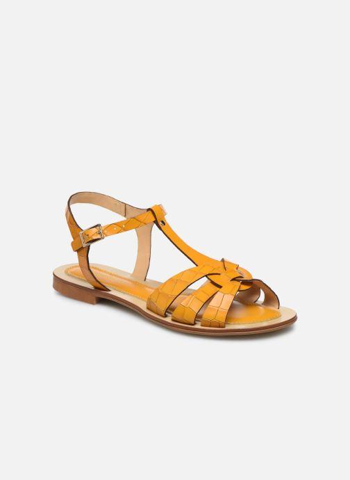 Sandales et nu-pieds Georgia Rose Licroco Jaune vue détail/paire