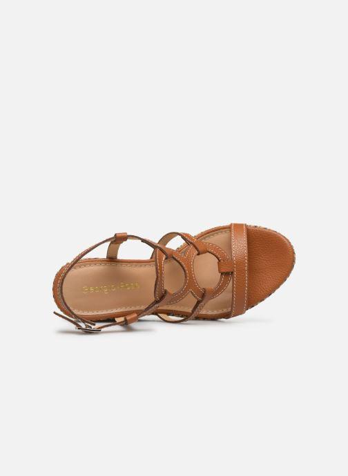 Sandales et nu-pieds Georgia Rose Lisoura Marron vue gauche