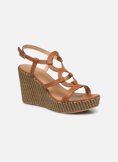 Sandales et nu-pieds Georgia Rose Lisoura Marron vue détail/paire