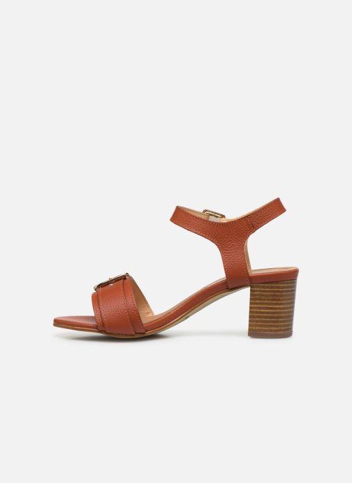 Sandales et nu-pieds Georgia Rose Libouma Marron vue face