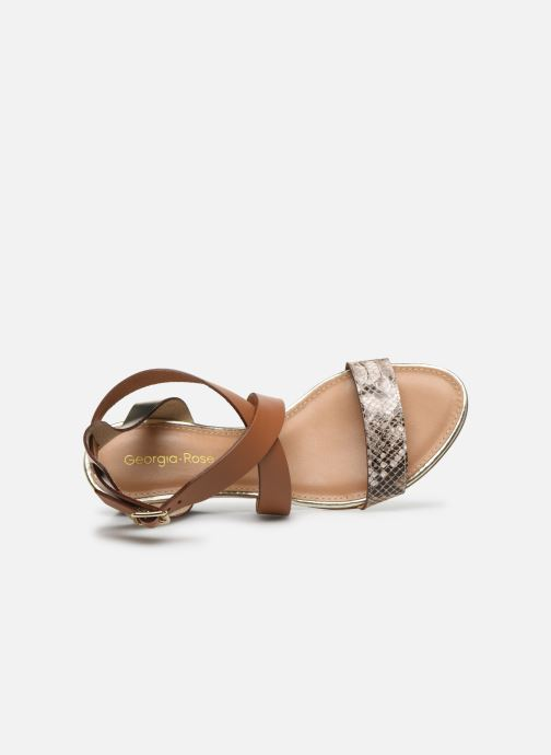 Sandali e scarpe aperte Georgia Rose Lipent Marrone immagine sinistra