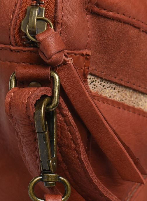 Bolsos de mano Pieces ANNI LEATHER CROSS BODY Marrón vista lateral izquierda